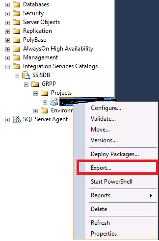 How to export SSIS package ( dtsx file) from SSISDB – Learn Sql Team